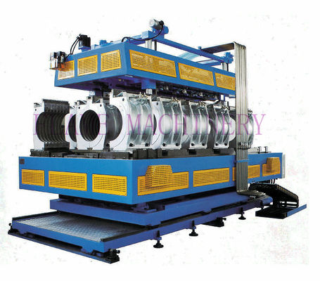 HDPE / PVC / PP Vertical  And Horizontal Pipe Extrusion Line Double Wall Corrugated